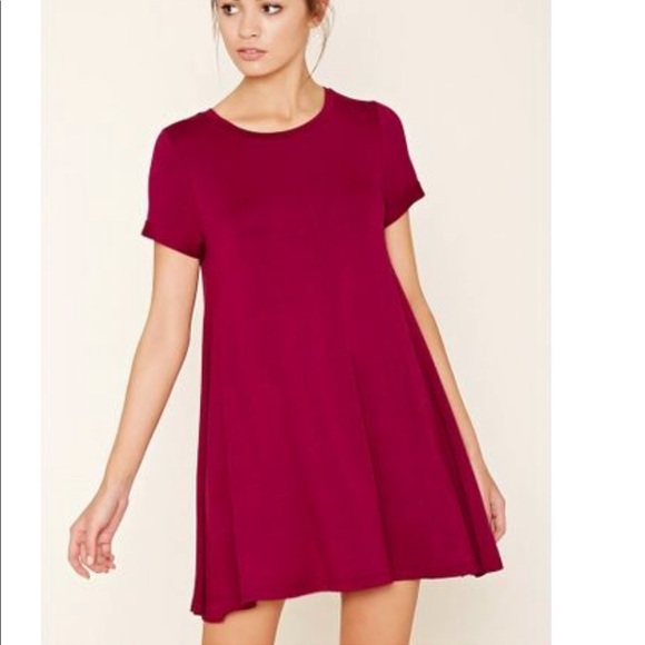 a978e396c4f3 Forever 21 Dresses | French Terry Tshirt Swing Dress Pink | Poshmark